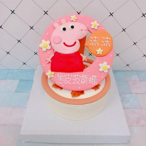 佩佩豬卡通造型蛋糕,可愛粉紅豬小妹生日蛋糕,小豬佩奇Peppa Pig
