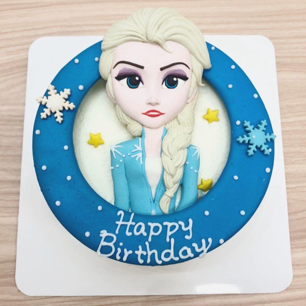 艾莎公主生日蛋糕宅配,小朋友最愛的冰雪奇緣Elsa