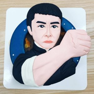 詠春拳葉問客製化蛋糕推薦,甄子丹人像造型蛋糕