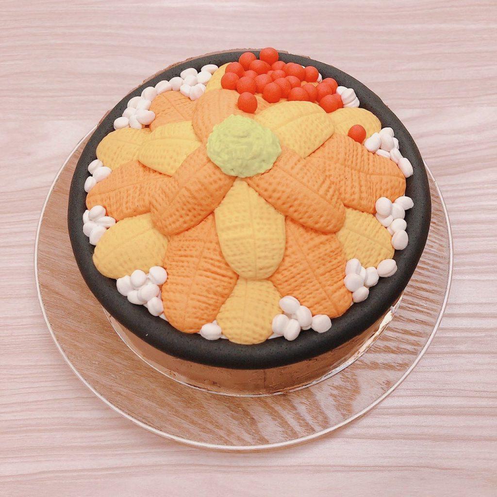 日本食物造型蛋糕,鮭魚卵海膽丼飯