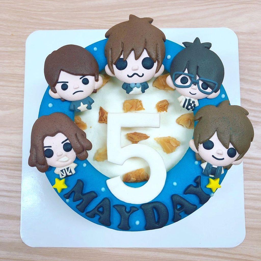 五月天Q版客製化造型蛋糕,身為五迷必推的公仔蛋糕呀~