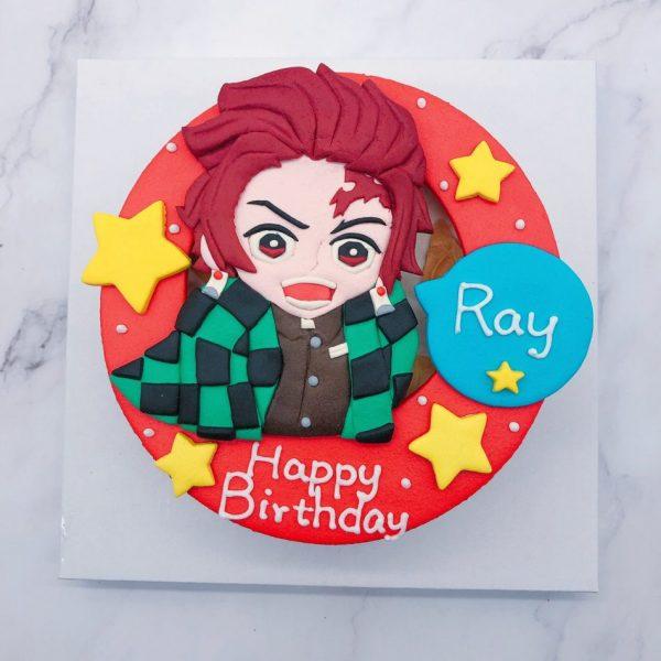 鬼滅之刃炭治郎公仔造型蛋糕,日本最紅的客製化蛋糕作品