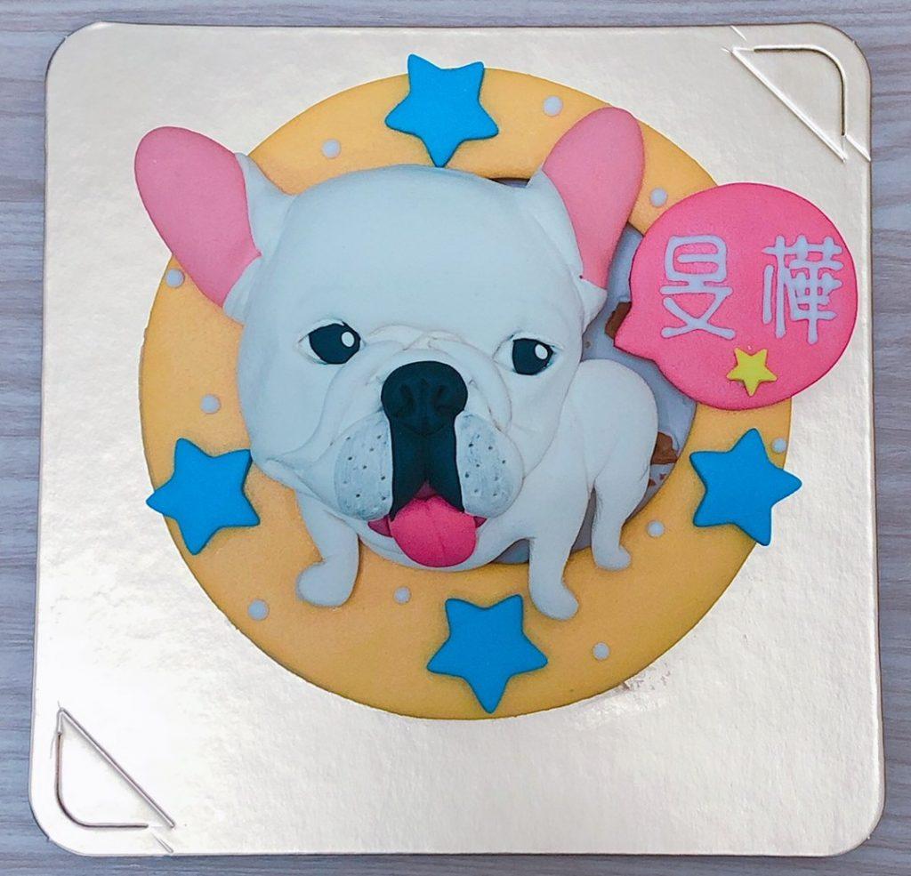 客製化寵物蛋糕推薦,可愛毛小孩法鬥生日蛋糕