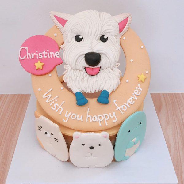 客製化寵物蛋糕推薦,狗狗結合角落生物生日蛋糕萌翻主子