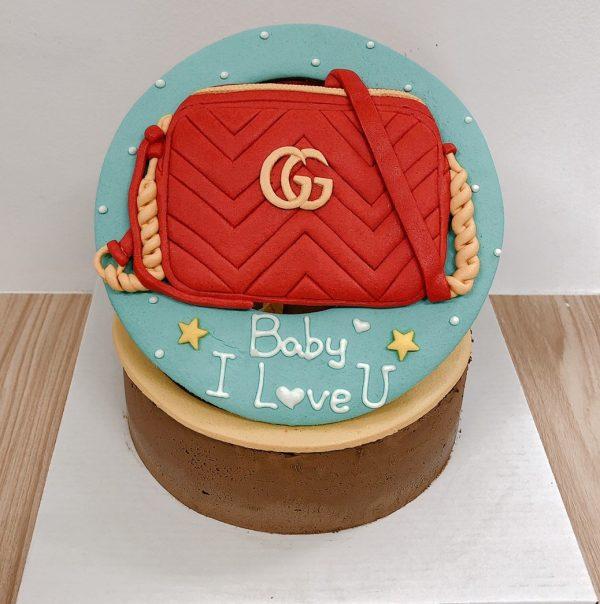 2020情人節蛋糕推薦,gucci名牌包客製化造型生日蛋糕