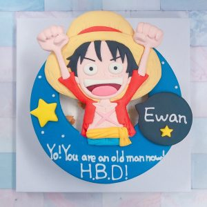 日本暢銷漫畫海賊王蛋糕推薦,海賊王魯夫客製化造型生日蛋糕