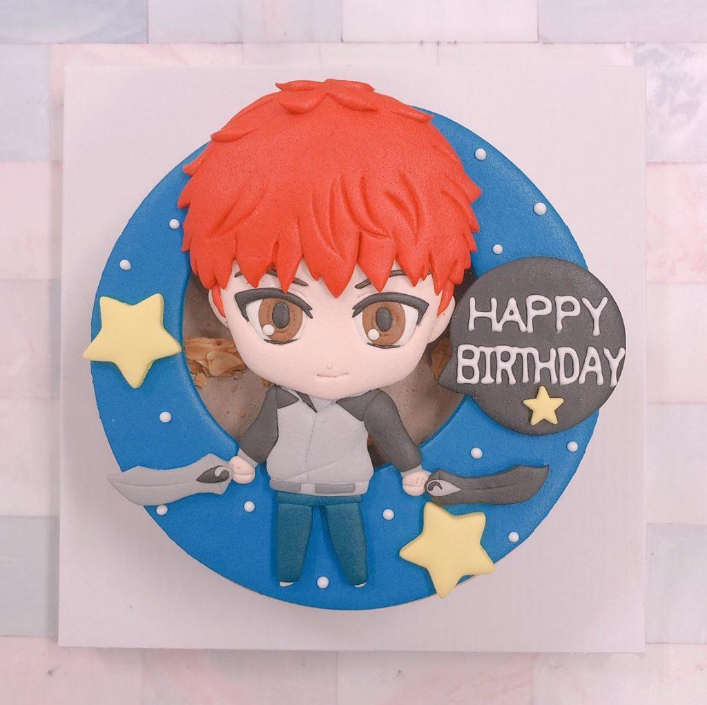 日本漫畫Fate/stay night蛋糕推薦,衛宮士郎客製化造型生日蛋糕