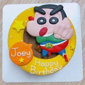 動感蠟筆小新客製化造型蛋糕,童年回憶卡通