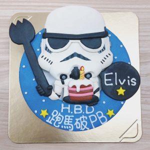 台北生日蛋糕推薦,【星際大戰】黑白武士客製化造型蛋糕