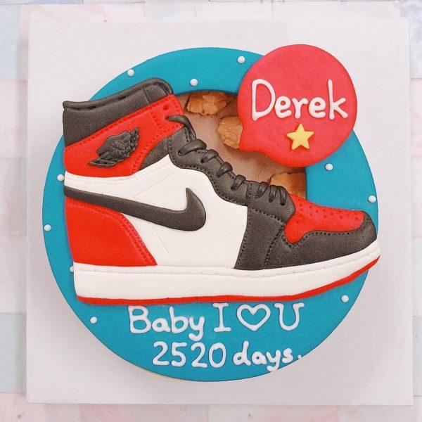 2020情人節蛋糕推薦,喬丹球鞋客製化造型生日蛋糕