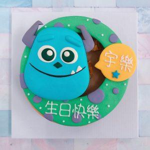 台北毛怪生日蛋糕推薦,客製化卡通怪獸電力公司毛怪造型蛋糕