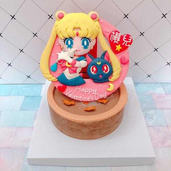 Q版美少女戰士客製化蛋糕,少女最愛的造型生日蛋糕