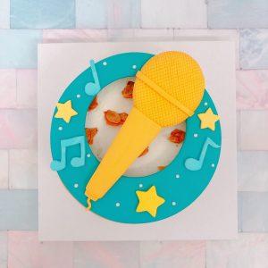 台北客製化蛋糕推薦,麥克風造型生日蛋糕