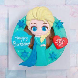 台北客製化迪士尼生日蛋糕推薦,Q版ELSA艾莎卡通造型蛋糕