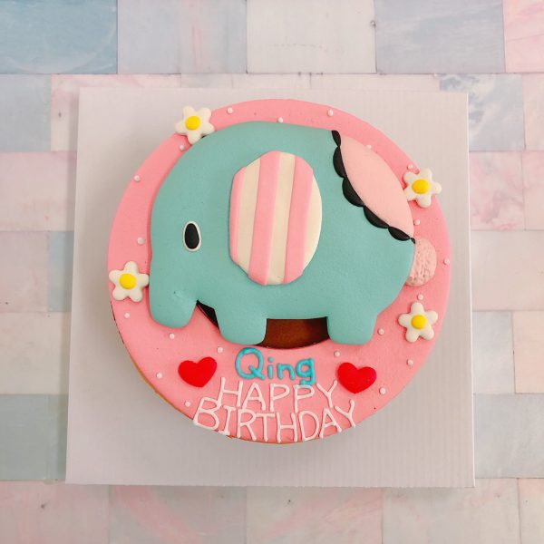 台北客製化生日蛋糕推薦,憂傷馬戲團之大象造型蛋糕