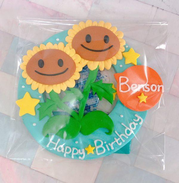 台北客製化生日蛋糕推薦,可愛向日葵之植物殭屍大戰造型蛋糕