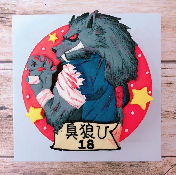 台北客製化生日蛋糕推薦,狼人殺之狼王角色造型蛋糕