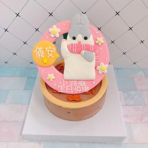 台北客製化生日蛋糕推薦,可愛的麻吉兔造型蛋糕