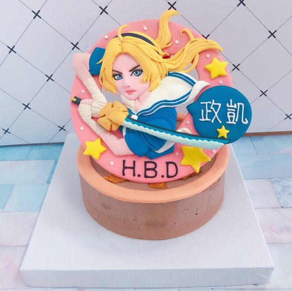 台北客製化生日蛋糕推薦,傳說對決之刀鋒寶貝造型蛋糕
