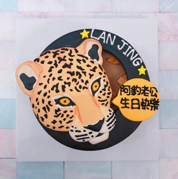 台北客製化寵物蛋糕推薦,超帥氣之豹頭造型生日蛋糕