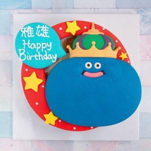 台北客製化史萊姆王生日蛋糕推薦,勇者鬥惡龍手遊之造型蛋糕火熱上線中~