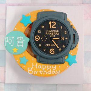 台北蛋糕客製化生日蛋糕推薦,沛納海手錶造型蛋糕登場