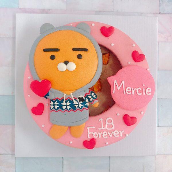 Kakao Friends客製化宅配造型蛋糕推薦,ryan熊隊長生日蛋糕來囉!
