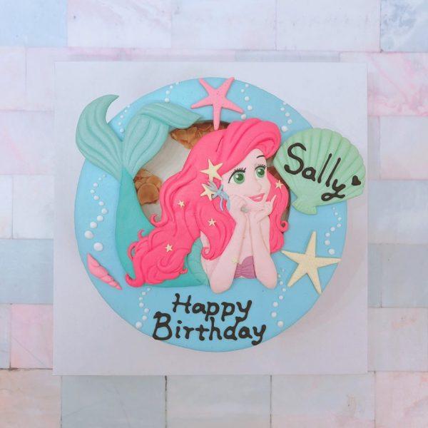 迪士尼公主造型客製化宅配蛋糕推薦,小美人魚愛麗兒造型生日蛋糕