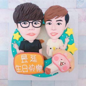 台北客製化造型蛋糕推薦,Q版人物與毛孩造型生日蛋糕