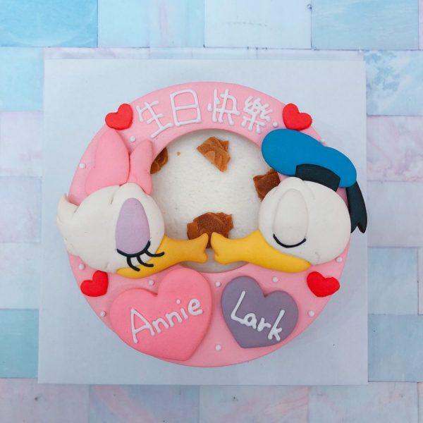 迪士尼造型客製化宅配蛋糕推薦,唐老鴨與黛西造型生日蛋糕