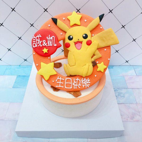 寶可夢客製化宅配蛋糕推薦,超可愛皮卡丘卡通造型蛋糕
