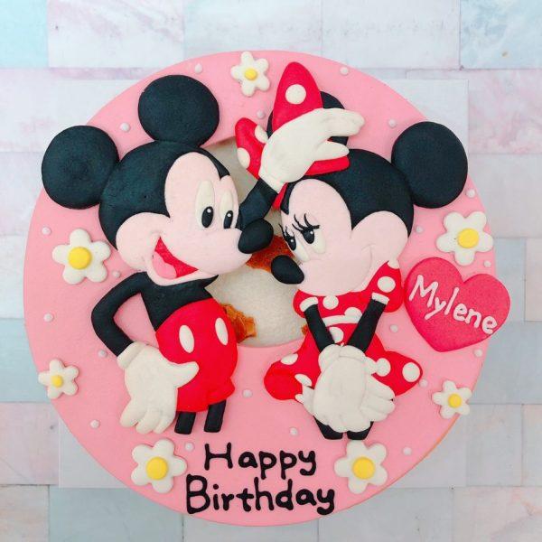 迪士尼造型客製化宅配蛋糕推薦,米奇米妮造型生日蛋糕