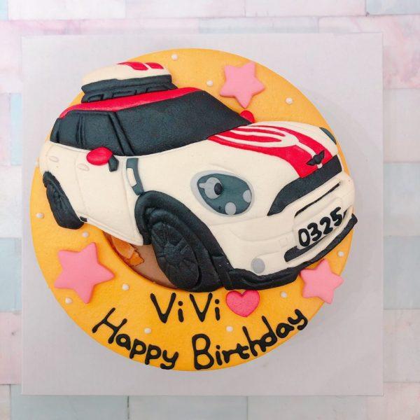 寶馬蛋糕客製化生日蛋糕推薦,MINICOOPER汽車造型蛋糕登場