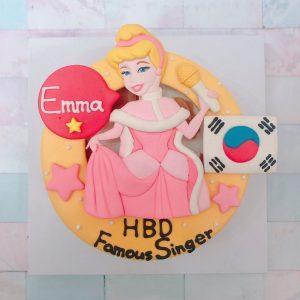 迪士尼公主造型客製化宅配蛋糕推薦,灰姑娘造型生日蛋糕