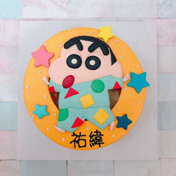 蠟筆小新客製化宅配造型蛋糕,睡衣蠟筆小新卡通生日蛋糕