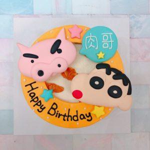 蠟筆小新客製化宅配造型蛋糕,肥嘟嘟左衛門卡通生日蛋糕