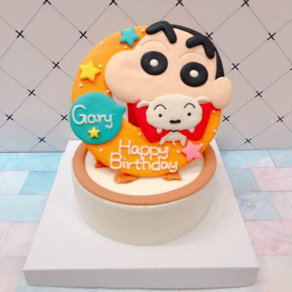 蠟筆小新客製化宅配造型蛋糕,蠟筆小新與小白卡通生日蛋糕