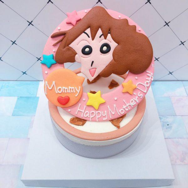 蠟筆小新媽媽客製化宅配造型蛋糕,美冴卡通母親節蛋糕