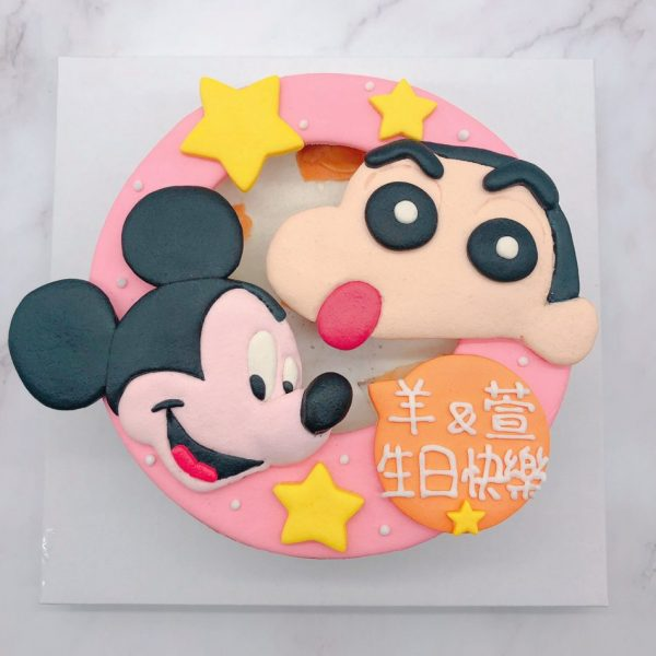 蠟筆小新客製化造型蛋糕,米奇卡通生日蛋糕推薦