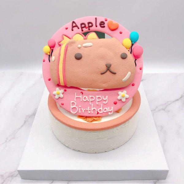 水豚君客製化造型蛋糕,超萌水豚君生日蛋糕推薦