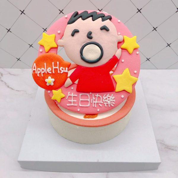大寶生日蛋糕手工捏製,超可愛卡通造型蛋糕手作分享
