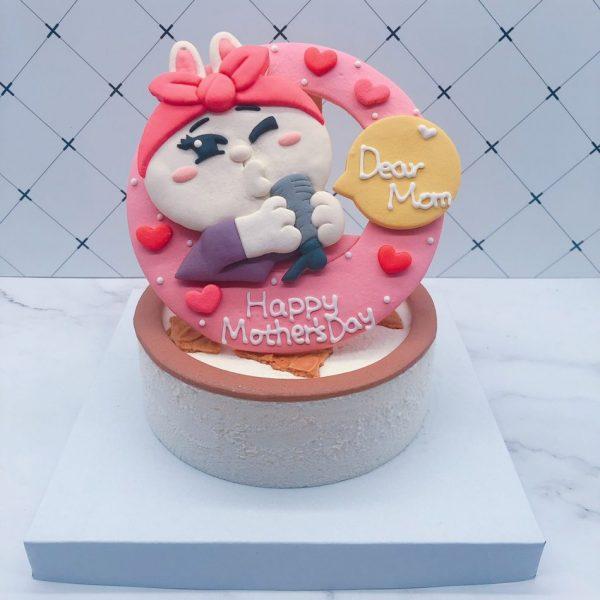 超可愛兔兔手作蛋糕作品分享,兔兔貼圖手工捏製造型蛋糕宅配