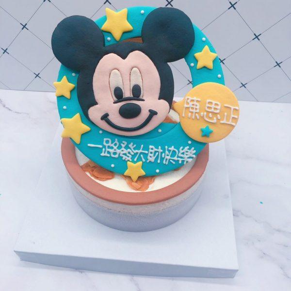 米奇造型生日蛋糕,迪士尼造型客製化宅配蛋糕推薦