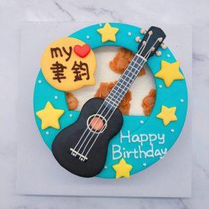 吉他造型生日蛋糕推薦,烏克麗麗客製化造型蛋糕宅配