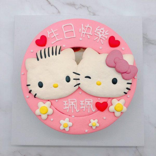 凱蒂貓造型蛋糕手工捏製,Hello Kitty生日蛋糕手作分享