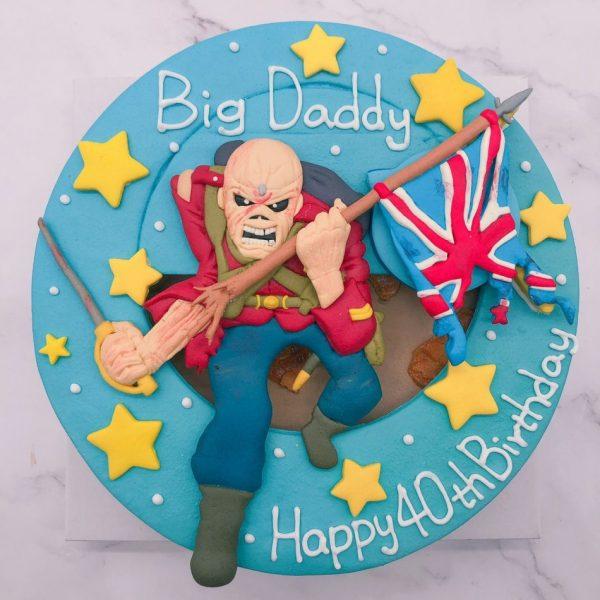 Eddie生日蛋糕推薦,Iron Maiden客製化造型蛋糕作品分享