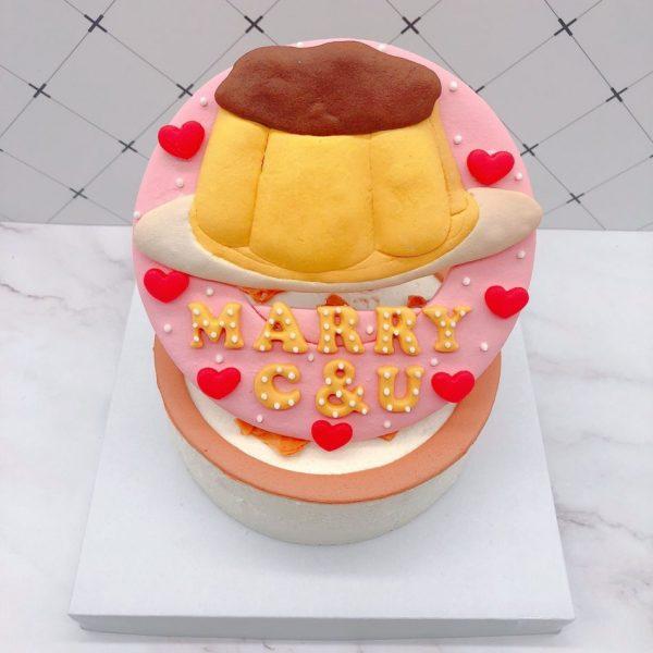 布丁生日蛋糕推薦,布丁客製化造型蛋糕宅配