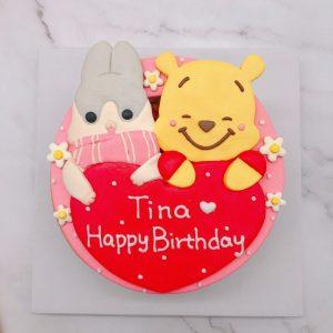 小熊維尼生日蛋糕推薦,麻吉兔造型蛋糕宅配