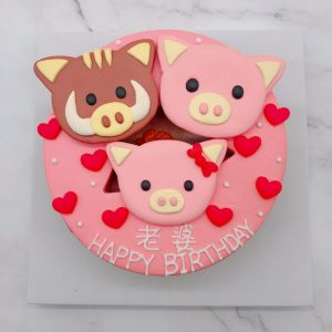 超可愛的豬、黑貓蛋糕,三隻放在一起也ok唷! 大家有想做的其他角色,都歡迎提供照片跟我們做詢問唷^^