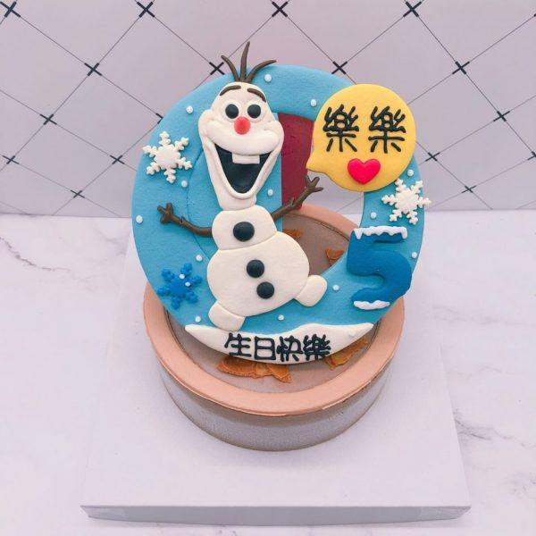 雪寶生日蛋糕推薦,冰雪奇緣造型蛋糕宅配